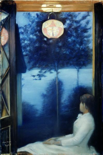 Oda Krohg - A Japanese Lantern