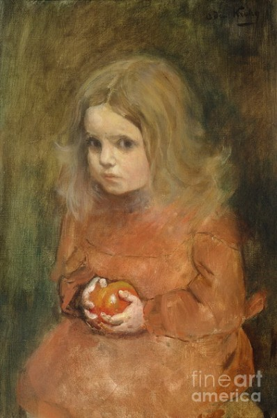Oda Krohg - Litte Girl With Apple