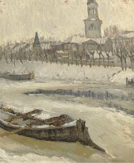 Abraham Manievich - Early Spring. The Breaking of the Ice