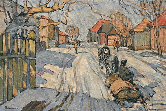 Abraham Manievich - Troika in the Snow