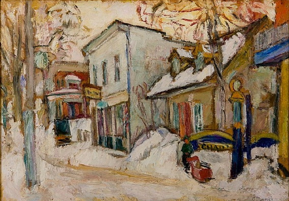 Abraham Manievich - Snow-covered Street