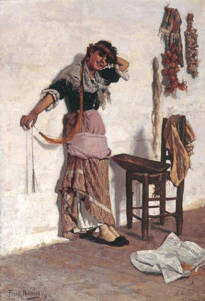 Frank Bramley -  A Venetian Market Girl