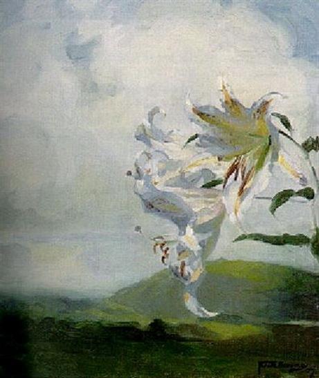 Frank Bramley -  Auratum lilies
