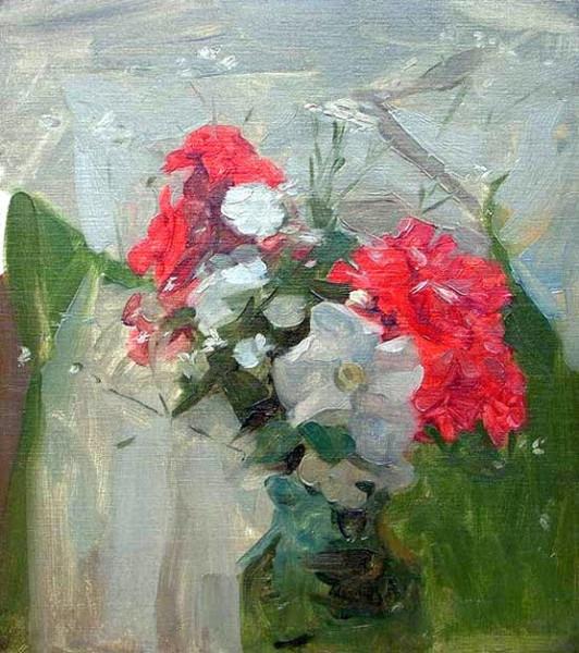 Frank Bramley -  Flower study