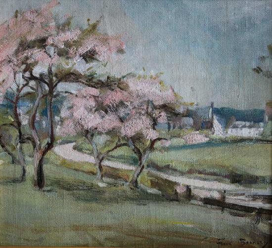 Frank Bramley - Grasmer cherry blossom