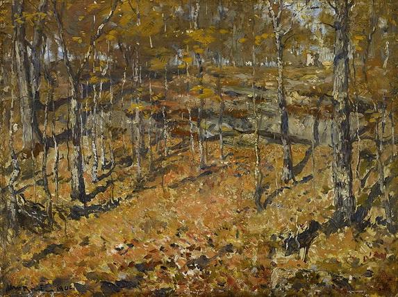 Henry Ward Ranger - Autumn Woods