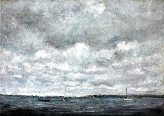 Henry Ward Ranger - Gray Day, Fishers Island Sound