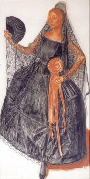 Яковлев - Танцовщица в испанском костюме