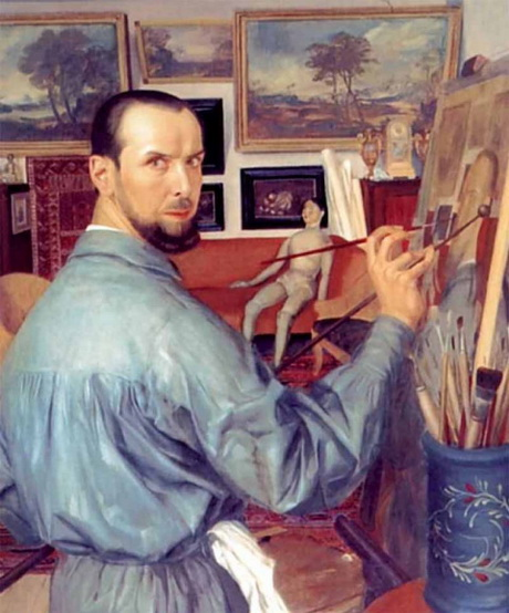 Яковлев - Автопортрет, 1917