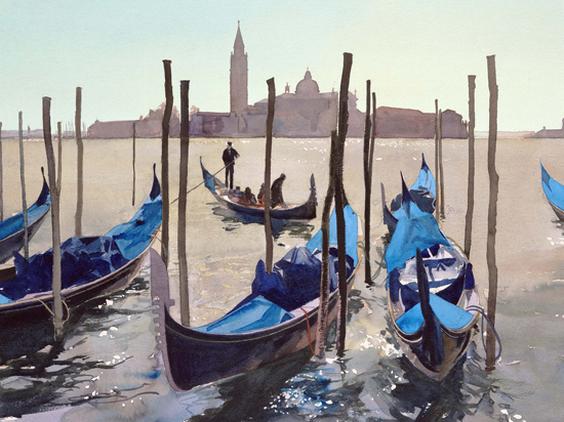 Bob Rudd - Gondolas against san glorgio