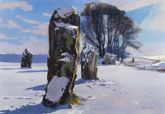 Bob Rudd - Avebury Stones Winter