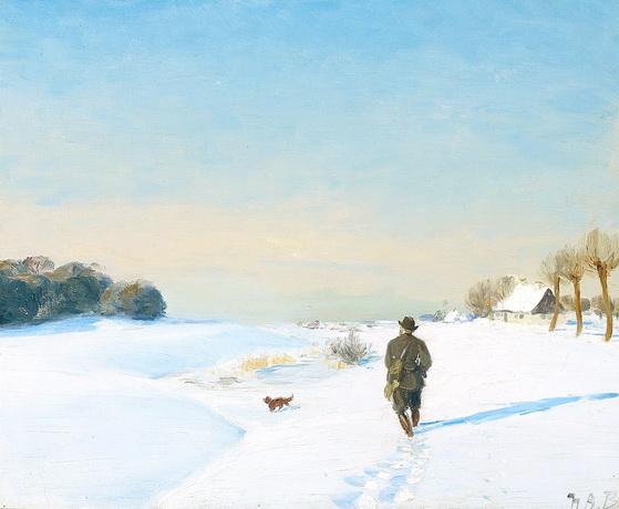 Hans Andersen Brendekilde - Jeger med hund ...