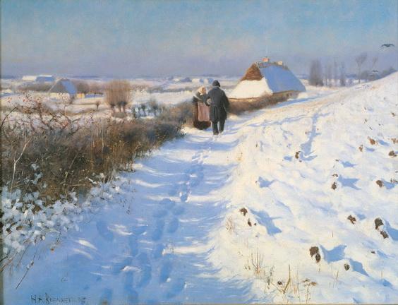 Hans Andersen Brendekilde - -Ved Vintertid...