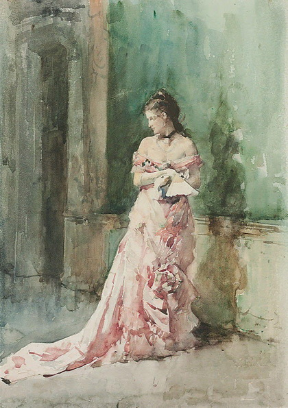 Francisco de Pradilla Ortiz - Portrait of a lady