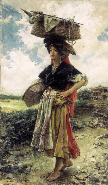 Francisco de Pradilla Ortiz - aldeana gallega