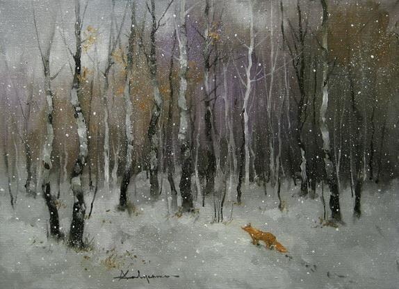 Савченко Алексей зимний пейзаж