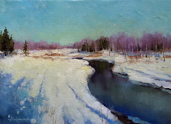 Савченко А.  речка зимой