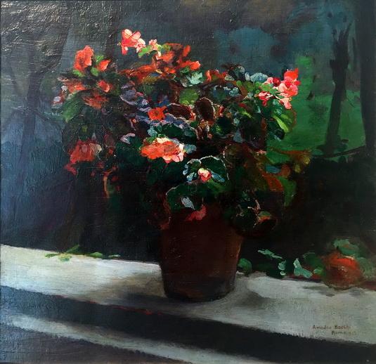 Amedeo Bocchi - Natura morta con vaso di fiori