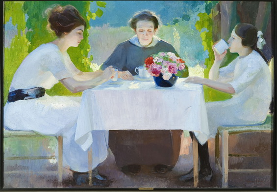 Amedeo Bocchi - Morning breakfast, 1919