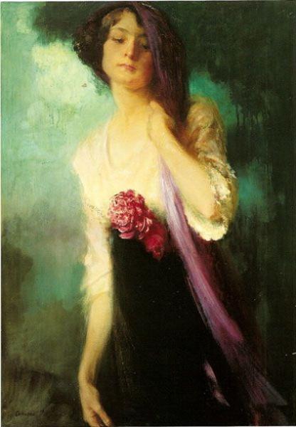 Amedeo Bocchi - la chica en morado