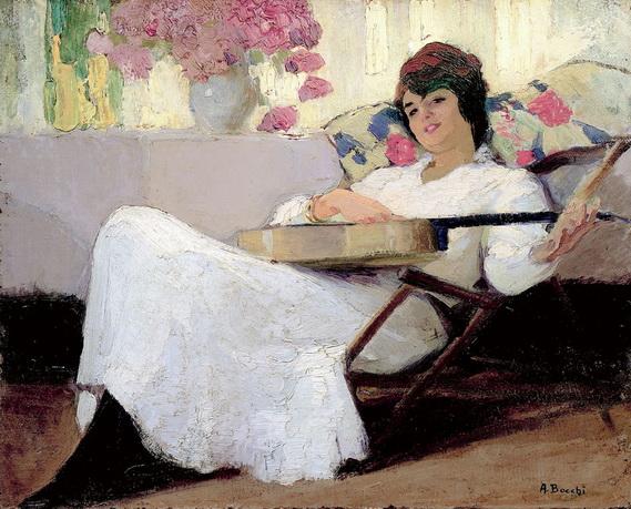 Amedeo Bocchi - Niccolina con chitarra 1917-2