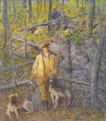 Julian Alden Weir - Hunter and Dogs