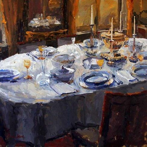 Piet van de Hoef - Gedekte tafel