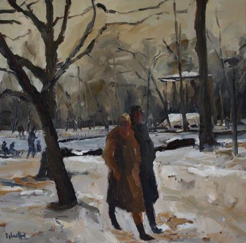 Piet van de Hoef - Winter Vondelpark 1