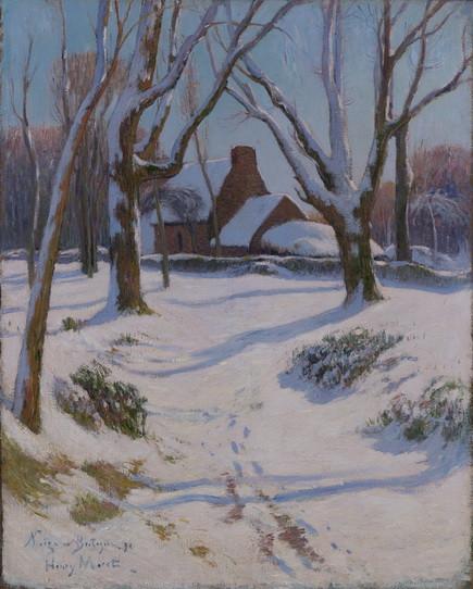 Henri Moret - Neige en Bretagne