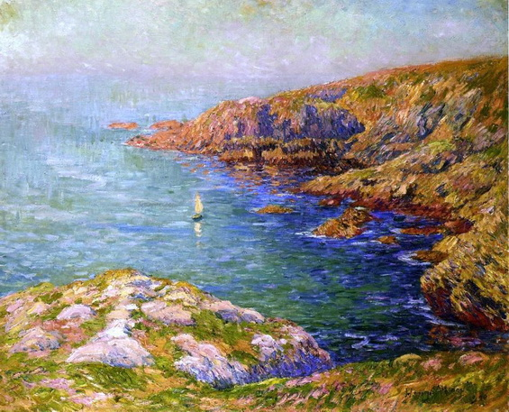 Henri Moret - Calm, Coast of Brittany