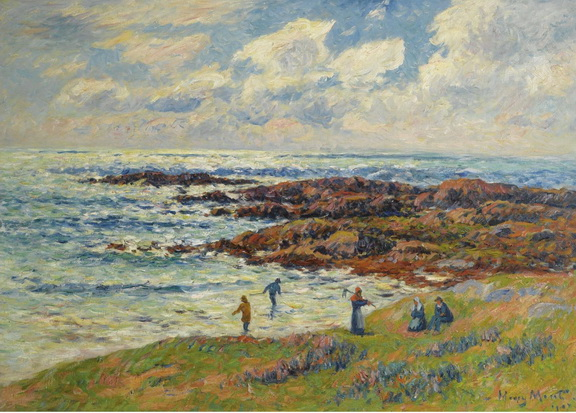 Henri Moret - gathering of seaweeds at nevez