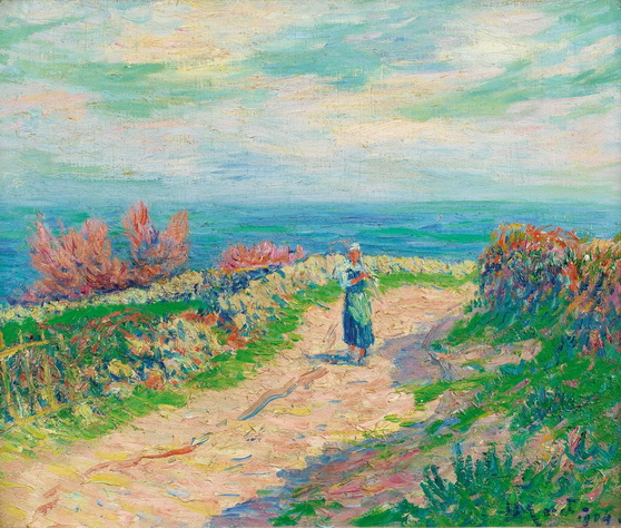 Henry Moret - the road near the seascape 1904