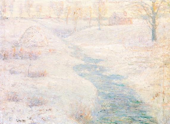 Ernest Lawson - The Frozen Haystack