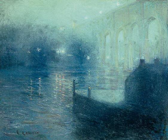 Ernest Lawson - Harlem River at Night