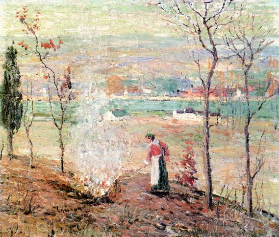 Ernest Lawson - Burning Leaves