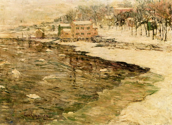 Ernest Lawson - Cos Cob in Winter