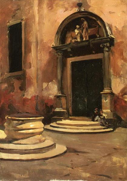 Ralph Curtis - Entrance of Little Church