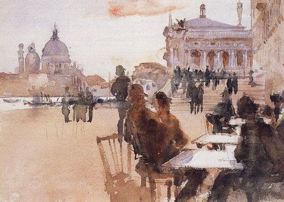 Ralph Curtis - Cafe on the Riva degli Schiavoni