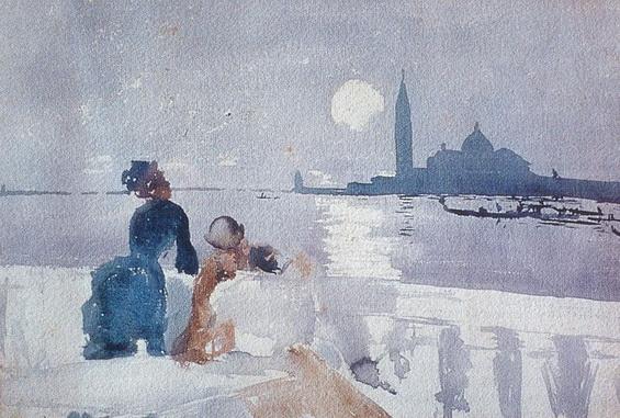 Ralph Curtis - San Giorgio by Moonlight