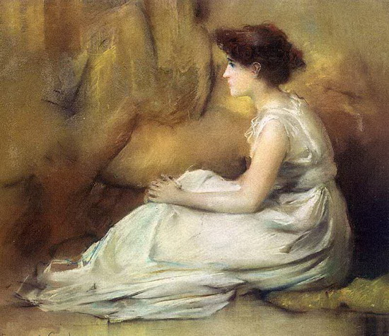 francis coates jones - Woman in White