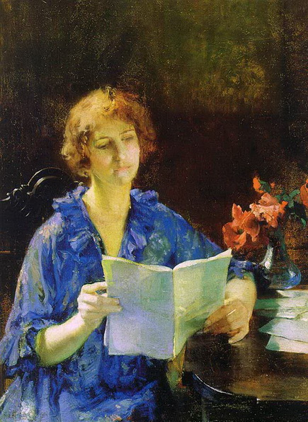 francis coates jones - Woman Reading