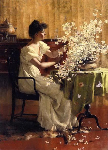 francis coates jones - женщина с цветами