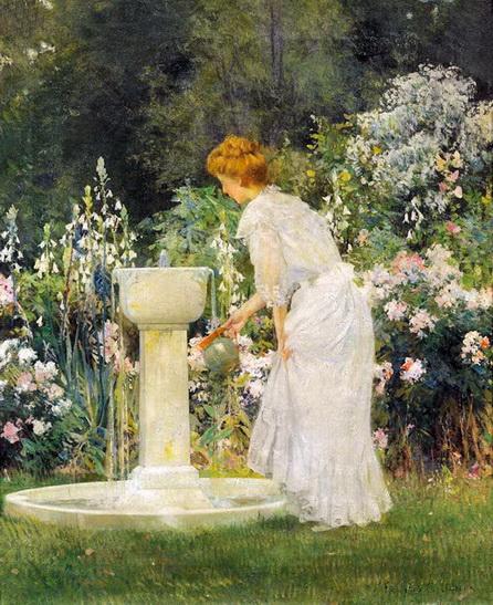 francis coates jones - At the Garden Fountain
