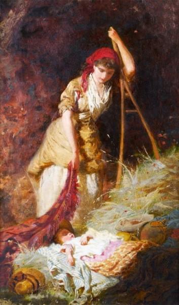 George Elgar Hicks - Мать и дитя