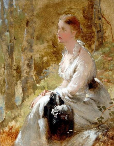 George Elgar Hicks - женщина в белом