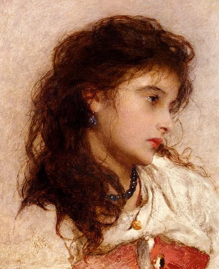 George Elgar Hicks - gypsy girl