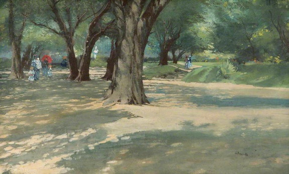 Attilio Pratella - A wooded park