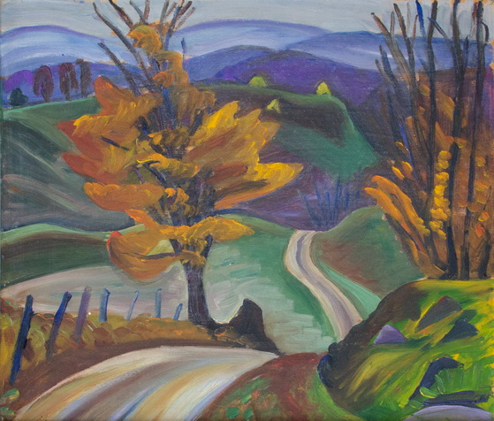 Prudence Heward - Autumn Road in Knowlton
