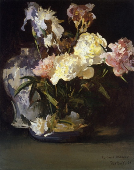 Peonies and Irises Edmund Tarbell