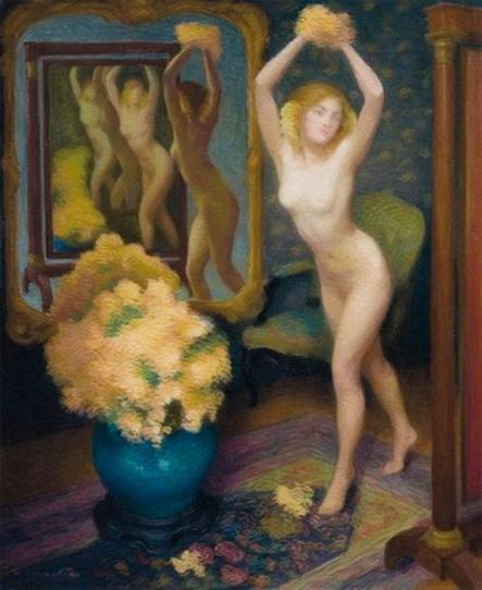 Marie Bracquemond - Nu dans un interieur